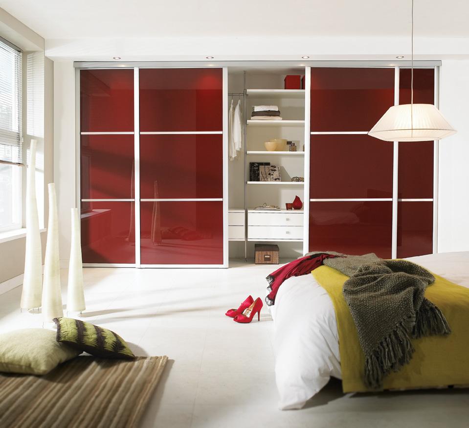 Armarios Empotrados A Coru A Modelo Lacobel Rojo ~ Puertas De Armarios Empotrados De Diseño