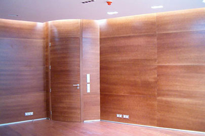 Fabricaci n de mobiliario para oficinas coru a - Panelado de paredes ...